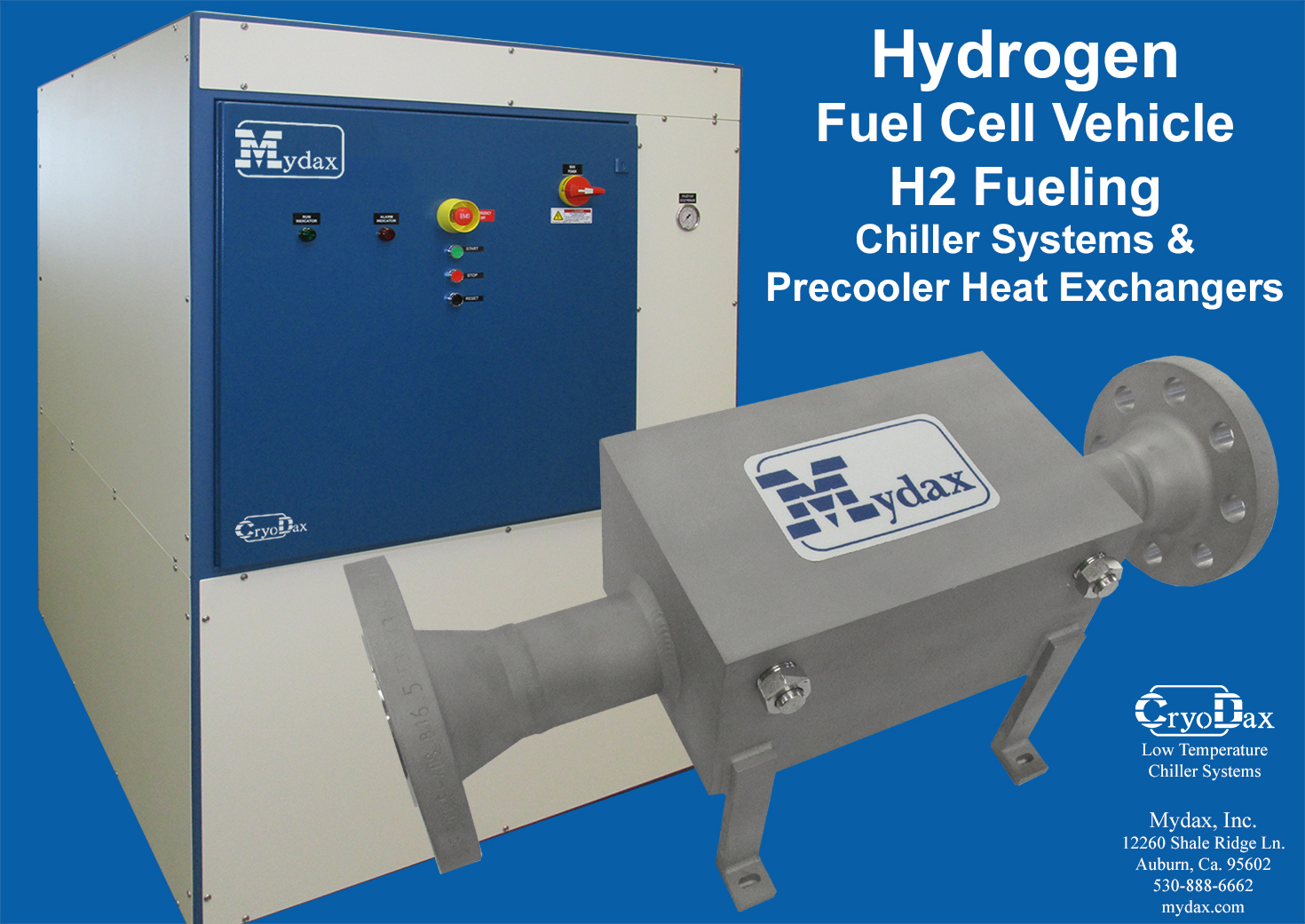 hydrogen fuel cell refueling chillers mche heat exchangers. Black Bedroom Furniture Sets. Home Design Ideas